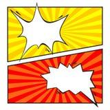 Satz der komischen Sprache-Blase, Karikatur lizenzfreie abbildung