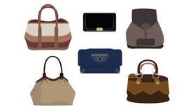 Satz der Luxusmodehandtasche Lizenzfreie Stockbilder