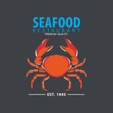Satz der Meeresfrüchtelogoschablone Lizenzfreie Stockfotos