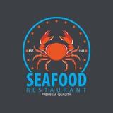 Satz der Meeresfrüchtelogoschablone Stockbilder