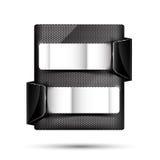 Satz der Metallchromfahne auf weißem Hintergrundvektor illustrati Lizenzfreie Stockfotografie