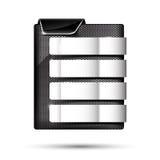 Satz der Metallchromfahne auf weißem Hintergrundvektor illustrati Lizenzfreie Stockfotos