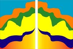 Satz der minimalen Schablone im Papier schnitt das Artdesign für das Einbrennen und annoncierte mit abstrakten Formen Moderner Hi stock abbildung