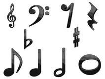 Satz der Musik-3D Stockbilder