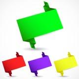 Satz der Origamispracheblase Lizenzfreie Stockfotografie