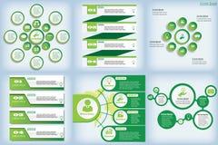 Satz der sauberen Zahlfahne des modernen Designs auf den hölzernen Hintergründen benutzt für Websiteplan Infographic Stockfoto