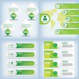 Satz der sauberen Zahlfahne des modernen Designs auf den hölzernen Hintergründen benutzt für Websiteplan Infographic Stockfotografie
