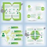 Satz der sauberen Zahlfahne des modernen Designs auf den hölzernen Hintergründen benutzt für Websiteplan Infographic Stockbilder