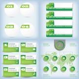 Satz der sauberen Zahlfahne des modernen Designs auf den hölzernen Hintergründen benutzt für Websiteplan Infographic Lizenzfreies Stockbild