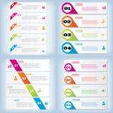 Satz der sauberen Zahlfahne des modernen Designs mit dem Geschäftskonzept verwendet für Websiteplan Infographic Stockbilder