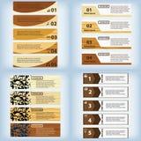 Satz der sauberen Zahlfahne des modernen Designs mit dem Geschäftskonzept verwendet für Websiteplan Infographic Lizenzfreies Stockfoto