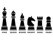 Satz der Schachfigur Stockbild