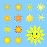 Satz der Sonne. Lizenzfreies Stockbild