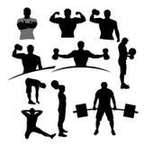 Satz der Sportler 09 Stockbilder