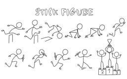 Satz der Stockzahl Leichtathletik Stockfotos
