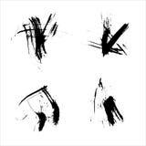 Satz der Tintenschmutzbürste Stockfoto