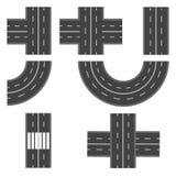 Satz der unterschiedlichen Straße, Landstraßenabschnitte Abbildung Lizenzfreies Stockfoto