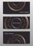 Satz der Vektorfahnen-Designschablone Stockbild