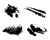 Satz der Vektortinten-Schmutzbürste Stockbilder
