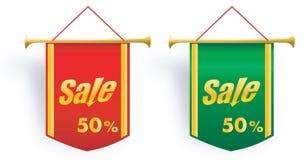 Satz der Verkaufsvektorfahne Lizenzfreies Stockfoto