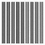 Satz der vier Autoreifenbahn Stockbild