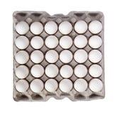 Satz der weißen Eier lokalisiert auf weißem Hintergrund Lizenzfreie Stockfotos