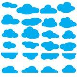 Satz der Wolkensammlung Lizenzfreie Stockbilder