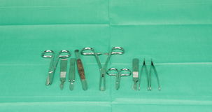Satz der Zeitspanne des chirurgischen Instrumentes stock video