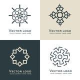 Satz des abstrakten geometrischen Logos Keltische, arabische Art Heilige Geometrieikone Identitätsdesign Lizenzfreie Stockfotos