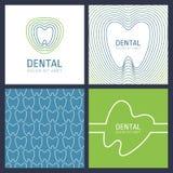 Satz des abstrakten modischen Konzeptes des Entwurfes für zahnmedizinische Klinik Vektor Stockfoto