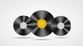 Satz des abstrakten Musikhintergrundvektors Stockfotografie