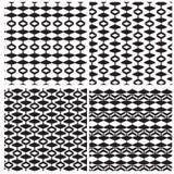Satz des abstrakten Musters von vier Schönheit lizenzfreie abbildung