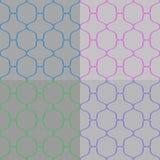 Satz des abstrakten nahtlosen Muster-Vektors Lizenzfreie Stockbilder