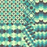 Satz des abstrakten Retro- geometrischen Musters Stockfotografie