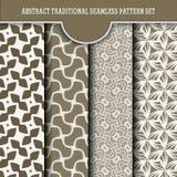 Satz des abstrakten traditionellen nahtlosen Musters Lizenzfreie Stockbilder