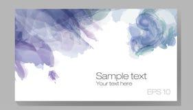Satz des Aquarellflecks, Tropfen, lokalisiert auf weißem Hintergrund Lizenzfreie Stockbilder