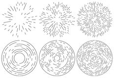 Satz des Ausstrahlens und konzentrischen Linienelement Gelegentlich, unregelmäßig stock abbildung