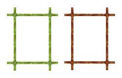 Satz des Bambusrahmens Stockbilder