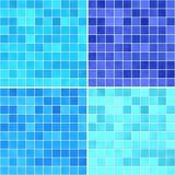 Satz des Beschaffenheiten Blaufliesenbodens Stockfotografie