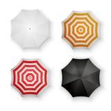 Satz des bunte Regenschirme lokalisierten Vektors Lizenzfreie Stockfotografie