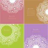 Satz des dekorativen Entwurfs-Elements der Weinlese-vier Lizenzfreie Stockfotos
