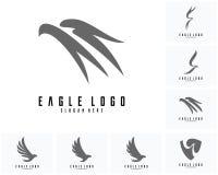 Satz des Eagle-Logodesignvektors, Eagle-Ikonenlogo Lizenzfreie Stockfotografie