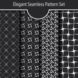 Satz des eleganten geometrischen nahtlosen Musters Lizenzfreies Stockbild