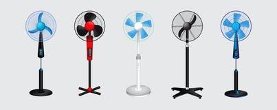 Satz des elektrischen Ventilators r stock abbildung