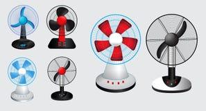 Satz des elektrischen Ventilators r lizenzfreie abbildung