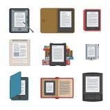 Satz des elektronischen Buches des Tablet-Computers für das Ablesen Stockbilder