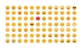 Satz des Emoticonvektors lizenzfreie stockfotografie