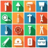 Satz des Errichtens von Simbols im flachen Design lizenzfreie abbildung