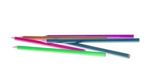 Satz des farbigen Bleistifts lokalisiert Stockfotografie