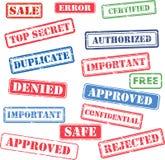 Satz des Firmenstempels Lizenzfreie Stockbilder